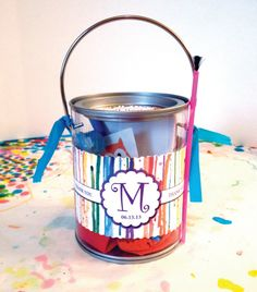 CUSTOM Paint Party Favor /// Paint Can /// My by PixelStickStudio, $10.00