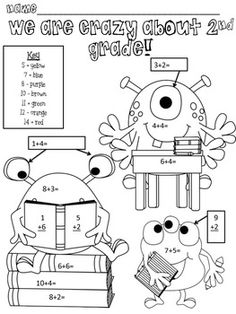 Monster Math Freebie for Second Grade reviews 2nd grade math I