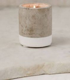 Paddywax Small Concrete Candle - Tobacco + Patchouli One Size at Urban Outfitters