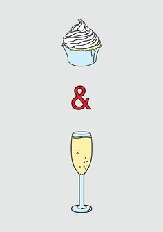 Cupcakes and Champagne! Definitely go together. Happy housewarming to Little j <3