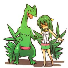 Sceptile.. a little creepy there