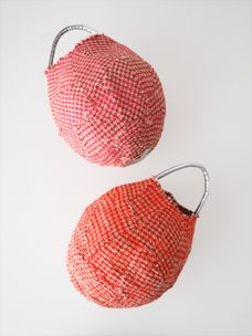 Contemporary Baskets, Rice Bags, Art Bag, Fabric Bags, Quilted Bag, Leather Fabric, Artisanal, Textile Art, Quilts