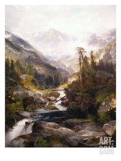The Mountain of the Holy Cross Giclee Print by Thomas Moran