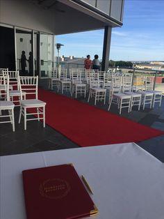 Moda Events Portside ceremony on the balcony @modaeventsvenue