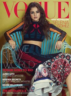 Ahahahaha! Selena Gomez and Jared Leto on the same magazine cover! Vogue Australia 2016.