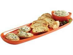 Rachael Ray Baguette Tray with Dipping Cup: Orange at Rachael Ray Store
