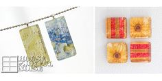 Glass Tile Gifts - Necklace pendants and magnet sets.  A step by step tutorial with many photos. Great homemade gift idea!