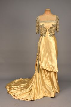 Worth evening dress, 1910-12