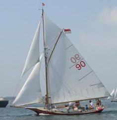 Friendship Sloop. This is a boat made in Maine.