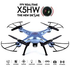 GoolRC X5HW Wifi FPV Drone with HD Camera Live Video Altitude Hold Function RC Quadcopter Blue *** Find out more about the great product at the image link.