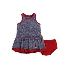 29155a169ffb Size 3-6M 2-Piece Paisley Organic Cotton Dress And Diaper Cover Set In.  buybuy BABY