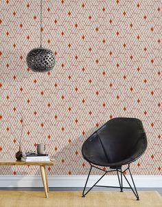 Heath fro Hygge & West Wallpaper, Quilt in Cayenne