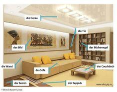 De woonkamer - Das Wohnzimmer