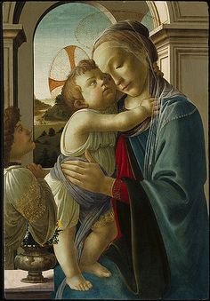 Botticelli: Virgin and Child with an Angel, 1475-85