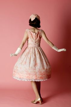 Vintage 1950s Pink Wedding Dress Jerry Gilden by unionmadebride, $175.00