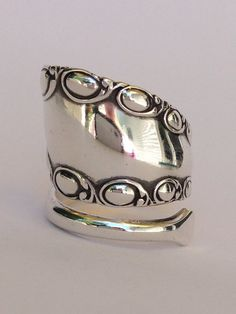 Vintage Sterling Silver Spoon Ring on Etsy, $64.99