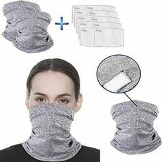 Infinity Scarf Balaclava Neck Gaiter Face Safety Mask Carbon Filters Bandanas Men Women Headwear Outdoors Sports Motorcycling Running Unisex Anti-Dust Sun UV Protection Shoes-Jewelry Shoes-Jewelry Shoes-Jewelry Easy Face Masks, Diy Face Mask, Bandana, Nose Mask, Diy Scarf, Diy Mask, Fashion Face Mask, Mask For Kids, Sewing Hacks