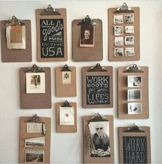Rustic home decor ideas DIY design projects country living room boho farmhouse cabin modern bedroom on a budget industrial kitchen bathroom western apartment wall beach romantic cheap and southern for your home interior design. Diy Home Decor For Apartments, Diy Home Decor On A Budget, Easy Home Decor, Decorating On A Budget, Cheap Home Decor, Cheap Wall Decor, Clipboard Art, Ideas Dormitorios, Country Farmhouse Decor