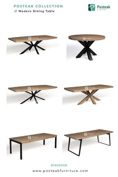 Indonesia Furniture - Industrial, Modern Dining Table, made of solid wood with a combination of metal/iron. Round Wooden Dining Table, Rustic Dining Chairs, Dining Table Sizes, Modern Dining Table, Restaurant Booth Seating, Restaurant Tables, Wood Table Design, Room Door Design, Dining Room Inspiration