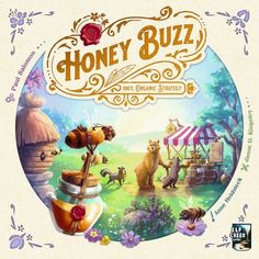 Bees have discovered economics! Make and sell honey to get money and win! Board Game Geek, Board Games, Mesa Geek, Elf Games, Alone Game, Honeycomb Tile, Bear Paw Print, Wooden Fan, Worker Bee
