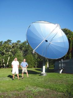 solar parabolic tracking collector (by SolarBeam); will heat the hot water; excess heats the pool - :)