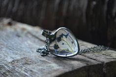 terrarium necklace real flowers necklace necklace by ZokaKurylov