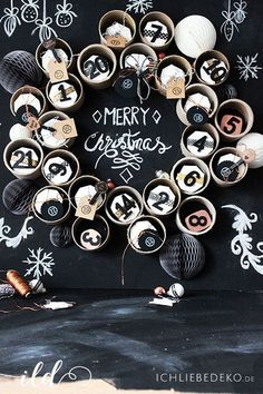 DIY advent calendar from cardboard tubes & paper cups Christmas Love, Winter Christmas, Christmas Crafts, Christmas Decorations, Advent Calenders, Diy Advent Calendar, Diy And Crafts, Crafts For Kids, Merry Christmas