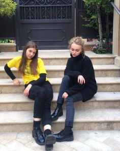 Lily rose depp(The blondie) I'm beginning to like her fashion style