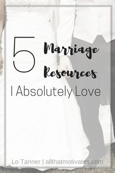 5 (biblical) Marriage Resources for the couple who needs to strengthen and refresh their marriage and their relationship with God. http://www.allthatmotivates.com/marriage-resources