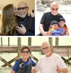 Celine Dion with husband René Angelil and their sons Rene-Charles Angelil and twins Eddy Angelil and Nelson Angelil