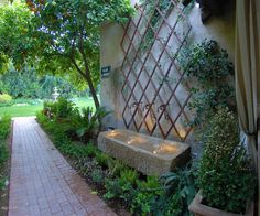 21 Backyard Wall Fountain Ideas to Wow Your Visitors wall fountain outdoor wall fountains backyard wall fountain ideas wall fountain diy wall fountain indoor wall fountain modern backyard wall fountain ideas backyard wall fountain diy Outdoor Wall Fountains, Garden Fountains, Outdoor Walls, Garden Ponds, Koi Ponds, Water Fountains, Outdoor Rooms, Water Wall Fountain, Patio Fountain