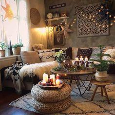 Boho Living Room, Home And Living, Living Room Decor, Bohemian Living, Stylish Living Rooms, Modern Living, Decor Room, Bedroom Decor, Modern Bedroom