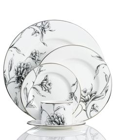 Marchesa by Lenox Dinnerware, Floral Illustrations Collection - Fine China - Din. Marchesa by Lenox Dinnerware, Floral Illustrations Collection – Fine China – Dining & Entertain Delft, Fine China Patterns, Vase Deco, Lenox China, Royal Doulton, China Sets, China Painting, Ceramic Painting, Dinner Sets