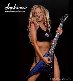 Jackson Guitars and Jenna Jameson from Synergy Guitar Boutique Guitar Girl, Cool Guitar, Rock N Roll, Jackson Guitars, Women Of Rock, Hollywood Heroines, Women In Music, Female Guitarist, Joan Jett