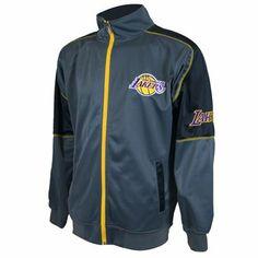 Los Angeles Lakers NBA Track Jacket (Gray) Team Gear f73102a58f9e