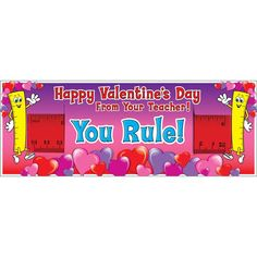 These You Rule! Valentine's Day Cards And Rulers are perfect for math teachers