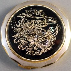 Vintage Asian powder compact