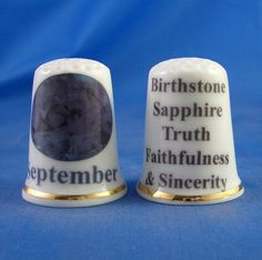 Flower of  Month December with Free Dome Gift Box Birchcroft China Thimble
