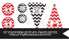 #cumpleaños pirata guirnalda y decoraciones para hacer guirnaldas diferentes parte del completo kit de piratas #imprimirble #gratis