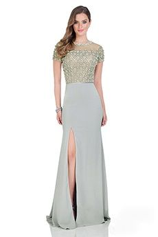 Trumpet/Mermaid Jewel Floor-length Satin Evening Dress