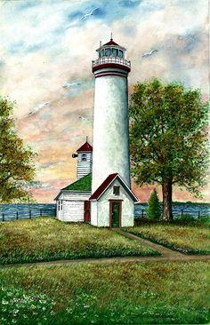 Great Lakes Light I Painting  - Great Lakes Light I Fine Art Print