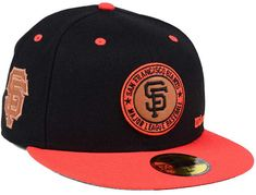 60b829768c1 New Era San Francisco Giants X Wilson Circle Patch 59FIFTY Fitted Cap  Fitted Caps