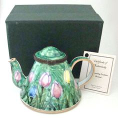KELVIN-CHEN-Enamel-Hinged-Miniature-Teapot-Mixed-Tulips-ENK843