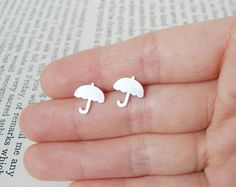 sterling silver weather forcast earring studs by huiyitan on Etsy, £25.00