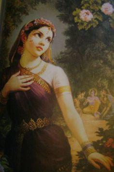 a painting of Radha- Raja Ravi Varma