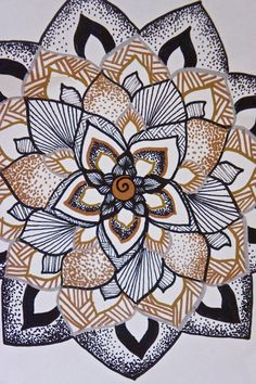 hand drawn: Flower of Life print by HarborforaDreamer on Etsy