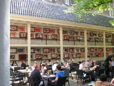 Terrace cafe at the Amsterdam Museum.