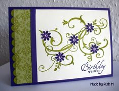 Baroque Birthday Wishes BRAK card by FubsyRuth - Cards and Paper Crafts at Splitcoaststampers