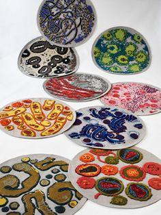 bacteria rugs Bev Hisey
