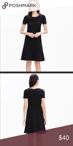 Madewell- Black Fit and Flare Dress/ black Great condition!   More pictures of the actual dress coming later tonight.   Perfect for casual days or work!   Cotton Madewell Dresses Midi